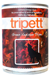 Petkind Tripett Green Venison Tripe, 14 oz.