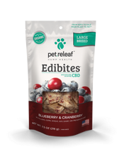 Large Breed Blueberry/Cranberry CBD Hemp Oil Edibites, 7.5 oz.
