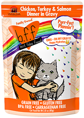 BFF OMG - Purr-fect Plannin' Chicken, Turkey & Salmon Dinner in Gravy, 2.8 oz.