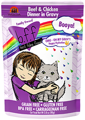 BFF OMG - Booya Beef & Chicken Cat Food Pouch, 2.8 oz.