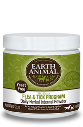 Earth Animal Flea & Tick Internal Powder, Yeast Free, 8 oz.