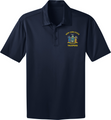 1230-DRY FIT NAVY STATE SEAL GOLF SHIRT