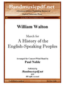 "March for ""A History of the English-Speaking Peoples"""
