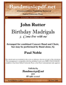 Birthday Madrigals 3.  Come live with me
