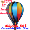 "25771 Sunset Gradient 22"" Hot Air Balloons (25771) Wind Spinner"