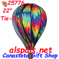 "25776 Tie-Dye 22"" Hot Air Balloons (25776) Wind Spinner"
