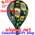"25767 Sunflowers 22"" Hot Air Balloons (25767) Wind Spinner"