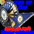 22104  Navy Triple Spinners (22104)