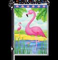 Pink Flamingos: Garden Flag