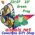 22107  Green Frog Triple Spinners (22107)