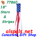 "77860  Stars & Stripes 18"", Windsock (77860)"