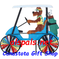 """Golf Cart 23"""" Dog : Vehicle Spinners (25677)"""