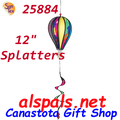"25884  Splatters 12"" Hot Air Balloon: Special Pricing (25884)"