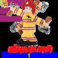 "21819  Fireman 28"" , Whirligig (21819)"