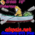 """21868  Fisherman 18"""" , Whirligig (21868)"""