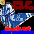 22151  Blue 'GO TEAM' : Go Team Triple Spinners (22151)