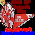 22152  Orange 'GO TEAM' : Go Team Triple Spinners (22152)