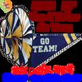 22161  Blue & Yellow 'GO TEAM' : Go Team Triple Spinners (22161)