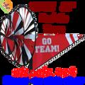 22155  Red 'GO TEAM' : Go Team Triple Spinners (22155)