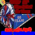 22157 Blue & Red 'GO TEAM' : Go Team Triple Spinners (22157)