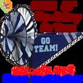 22158 Blue & Gray 'GO TEAM' : Go Team Triple Spinners (22158)