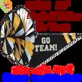 22156  Black & Yellow 'GO TEAM' : Go Team Triple Spinners (22156)