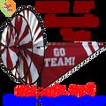 22153  Maroon 'GO TEAM' : Go Team Triple Spinners (22153)