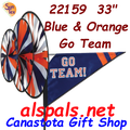 22159  Blue & Orange 'GO TEAM' : Go Team Triple Spinners (22159)