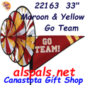 22163 Maroon & Yellow 'GO TEAM' : Go Team Triple Spinners (22163)