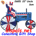 """26851 Uncle Sam on a Tractor: Tractor 22"""" Spinners (26851)"""