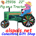"""26848  Pig on a Tractor 22"""": Tractor Spinners (26848)"""