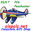 "26317  P-26 Peashooter 25"" : Airplane Spinners (26317)"