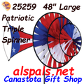 25259  Patriotic : Large Triple Spinner (25259)