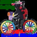 """25993 Ladybug 30""""   Bicycle Spinners (25993)"""