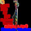 25526  Rainbow Teco Feather Banners (25526)