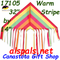"17105  Delta Fringe ""Stripes Warm "" : Fun Flyer (17105)"