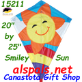 "15211  Smiley Sun: Diamond 25"" Kites by Premier (15211)"