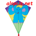 "Elephant:  Diamond 25"" Kites by Premier"