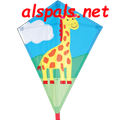 "Jacob Giraffe:  Diamond 25"" Kites by Premier"