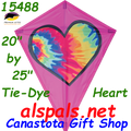 "15488   Tie Dye Heart: Diamond 25"" Kites by Premier (15488)"
