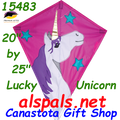 "15483  Lucky Unicorn: Diamond 25"" Kites by Premier (15483)"