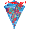 "Fancy Flutterby:  Diamond 25"" Kites by Premier"