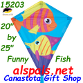 "15203  Funny Fish: Diamond 25"" Kites by Premier (15203)"