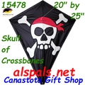 "15478  Skull & Crossbones: Diamond 25"" Kites by Premier (15478)"