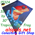 "16324  Tropical Frog: Diamond 30"" Kites by Premier (15324)"