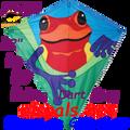"15444  Posion Dart Frog: Diamond 30"" Kites by Premier (15444)"