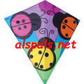 "Three Ladybugs : 30"" Diamonds (15449) Kite"