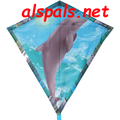"Coral the Dolphin : 30"" Diamonds (15327) Kite"