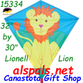 "15334  Lion Lionel: Diamond 30"" Kites by Premier (15334)"