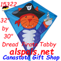 "Pirate  Dread-Tabby: Diamond 30""  Kites by Premier"